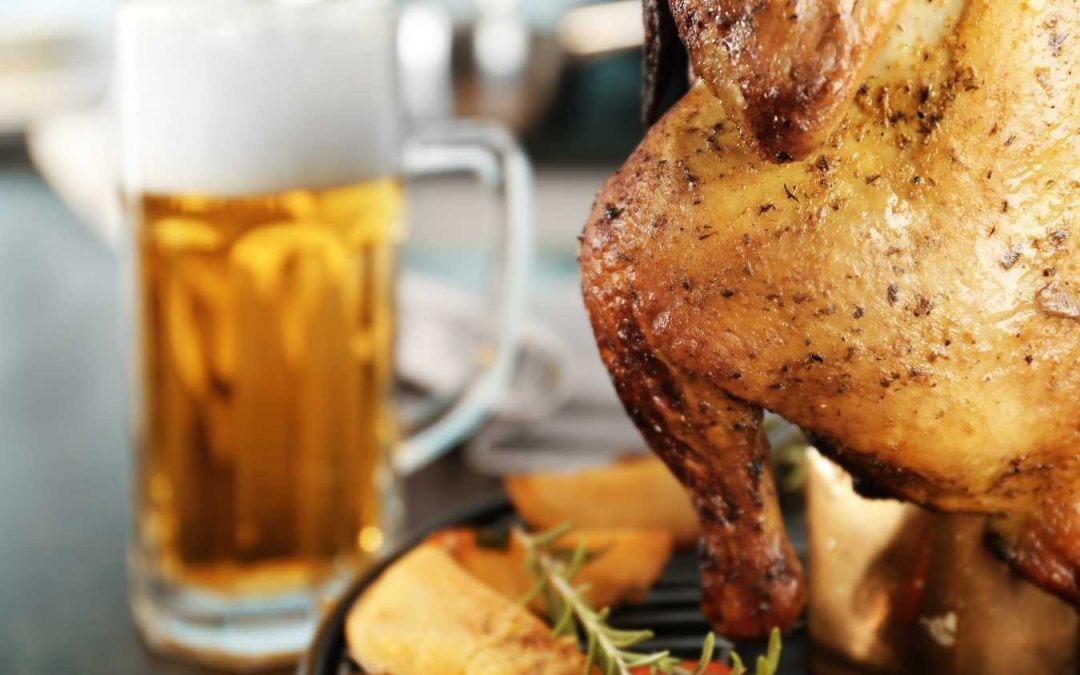 Beer Can Chicken grilla